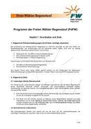 Kapitel 1: Grundsätze und Ziele - Freie Wähler Bayern