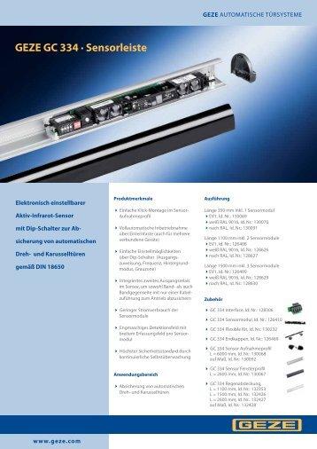 GEZE GC 334 · Sensorleiste