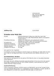 Erstellen einer Web-Site - gastro-tipp.ch