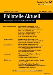der 30.06.2010. - Deutsche Post - Philatelie