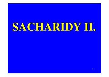 SACHARIDY II.