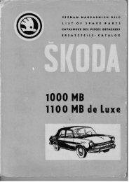 Škoda 1000 MB - katalog náhradních dílů v PDF