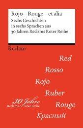 Rojo – Rouge – et alia. Sechs Geschichten in sechs ... - Reclam