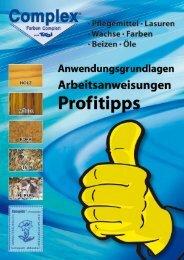 Profitipps als PDF downloaden - COMPLEX Farben