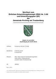 Wortlaut zum Örtlichen Entwicklungskonzept (ÖEK) Nr. 5.00 und ...