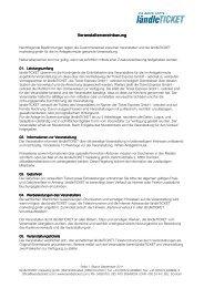 Veranstaltervereinbarung Veranstaltervereinbarung - Eventim