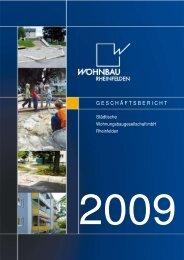 Geschäftsbericht 2009 Titelseite - Wohnbau Rheinfelden