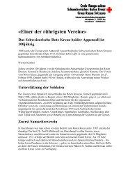 zur Geschichte - Schweizerisches Rotes Kreuz