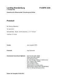 Landtag Brandenburg P-AWFK 5/29 Protokoll - DIE LINKE. Dr. Gerd ...
