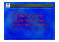 Kennedy Syndrom: Maus-Modelle und ... - Muskelatrophie