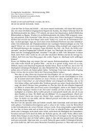 Predigt am Reformationstag 2006 von Prof. Dr. Christoph Markschies