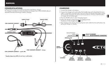 ctek mxs 3.6 manual