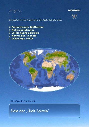 """Ziele der """"Welt-Spirale"""""""
