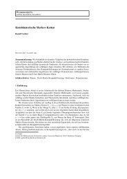 Kombinatorische Markov-Ketten - Institut für Mathematische ...
