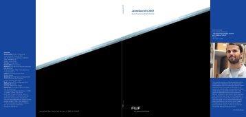 Jahresbericht 2007 - FWF