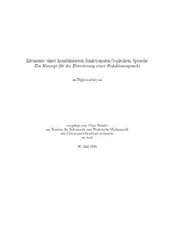 Elemente einer kombinierten funktionalen/logischen Sprache