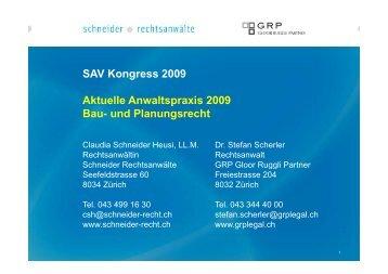 Vortrag in PDF-Format - Schneider Rechtsanwälte