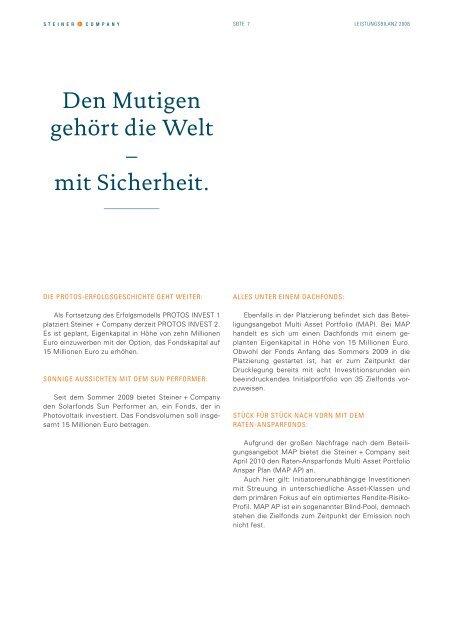 Leistungsbilanz - GFI - Gesellschaft für Finanzen und ...
