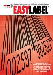 Etikettendruckprogramm mit Produktidentifizierung und ...