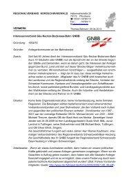 Zürich: Interessenverband GNBB 1954 - 2013 - Regionalverband ...