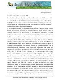 Bewerbung Helga Moericke Preis - Sophie Brahe Schule