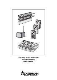 Installationsunterlage clino call HL - MSG