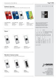 TYPE OVERVIEW - arcon Glas