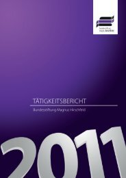 Tätigkeitsbericht 2011 - Bundesstiftung Magnus Hirschfeld