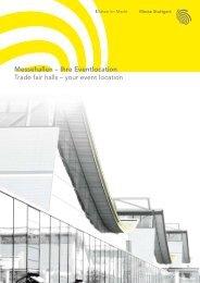 Eventbroschüre Standardhallen (PDF) - Messe Stuttgart