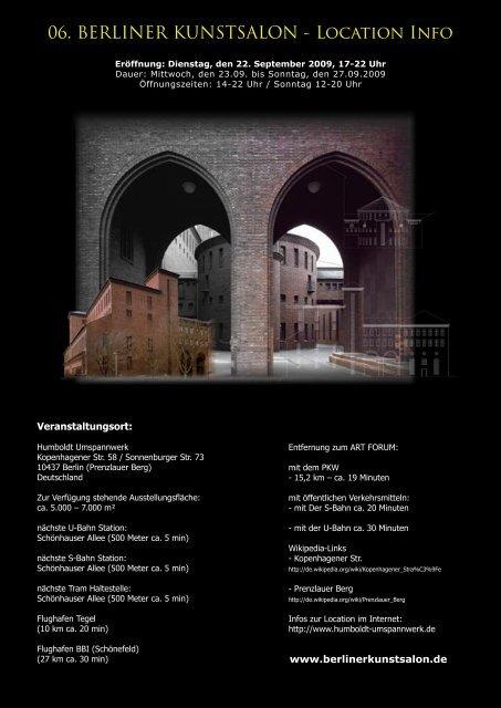 06. BERLINER KUNSTSALON - Location Info - arte veni!