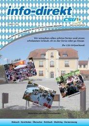 info-direkt 2011 Ausgabe 1 - CSU