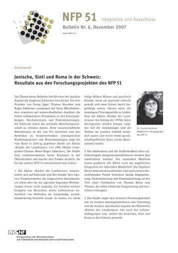 Jenische, Sinti und Roma in der Schweiz - sifaz