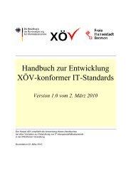 Handbuch zur Entwicklung XÖV-konformer IT ... - BIT - Bund.de
