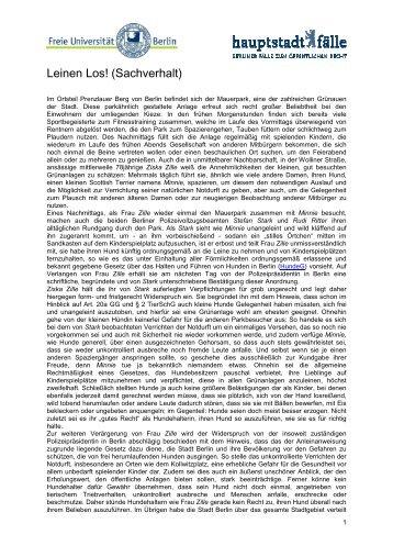 Leinen Los (Sachverhalt) pdf