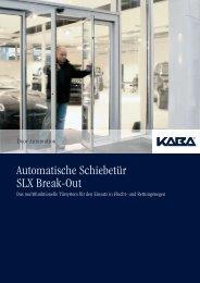 Automatische Schiebetür SLX Break-Out - Seca Solutions