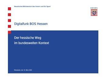 Digitalfunk BOS Hessen Der hessische Weg im bundesweiten ...