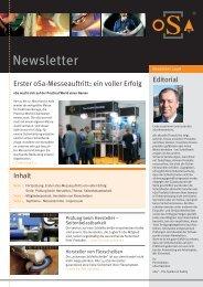 6. oSa Newsletter - Organisation für die Sicherheit von ...