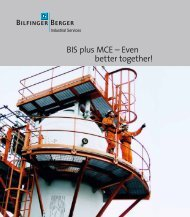 BIS plus MCE – Even better together! - Bilfinger Berger Industrial ...