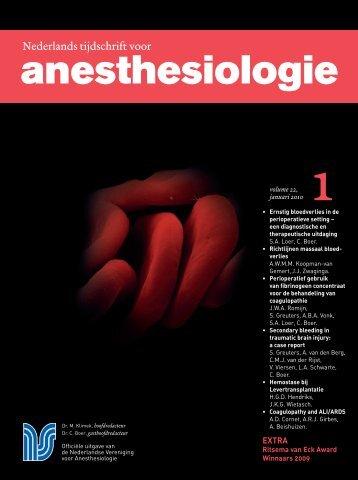 Nederlands tijdschrift voor anesthesiologie - Nederlandse ...
