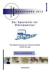 Der Spezialist für Ölbindemittel - ESV GmbH Ihr Spezialist für Öl ...
