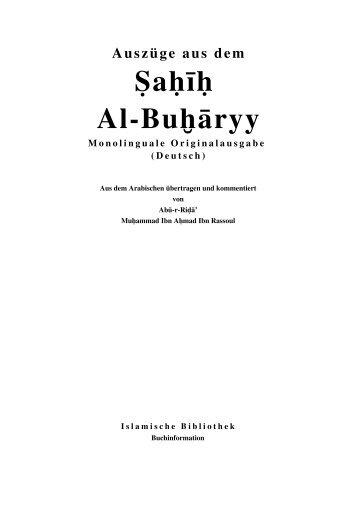 Ein Buch Auszuege aus Sahih Al Bukhari um PDF