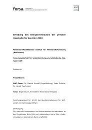Erhebung des Energieverbrauchs der privaten ... - RWI Essen