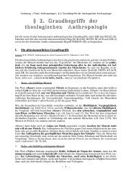Grundbegriffe der theol. Anthropologie - Theologie-Skripten