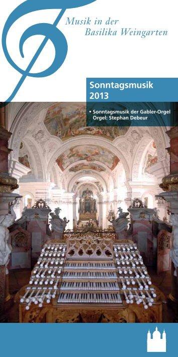 Sonntagsmusik 2013 - Freunde und Förderer der Musik in der ...