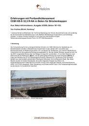 Erfahrungen mit Portlandhüttenzement CEM II/B-S 32,5 R ... - Holcim