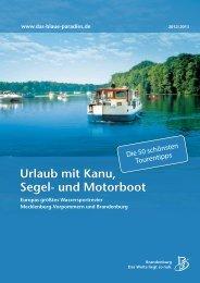Blaues Paradies Teil 1 - Bootsvermietung Brandenburg