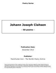 Johann Joseph Clahsen - poems - - PoemHunter.Com