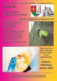 + Pfarrbrief von der Fastenzeit bis zur Osterzeit 2013 - Pfarramt ...