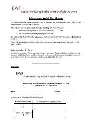 Kurs - EWF