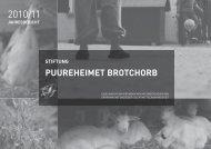 Der Jahresbericht 2010/11 - Stiftung Puureheimet Brotchorb